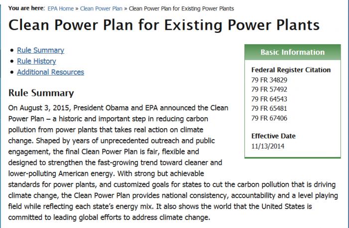 EPA's Punitive, Fraudulent Clean Power Plan
