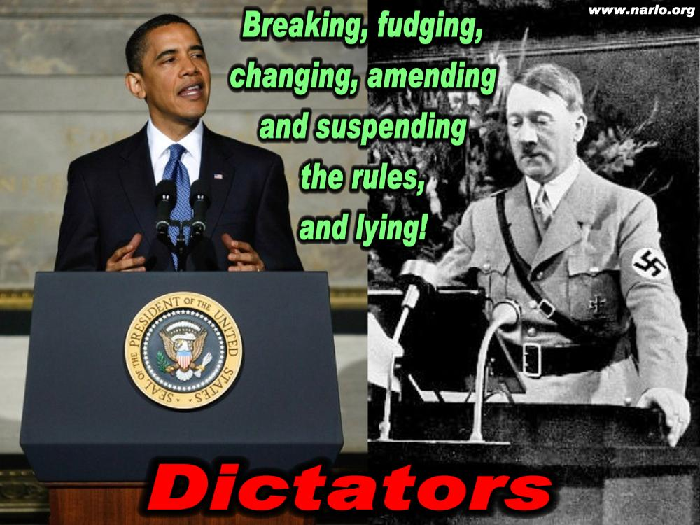 NARLO OBAMA AND HITLER breaking the rules