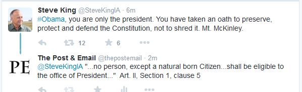 Steve King Obama tweet McKinley 1