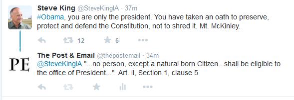 Steve King Obama tweet McKinley 2