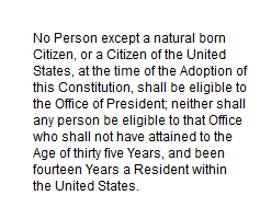 "A Commonsense Approach to Defining ""natural born Citizen"""