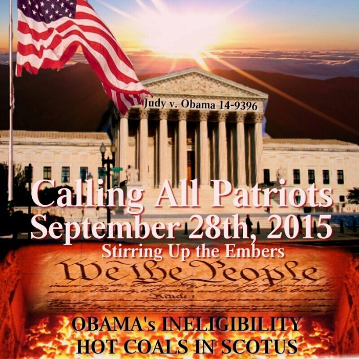 A Call to Action SHAKING Obama's Ineligibility Sept. 28th!