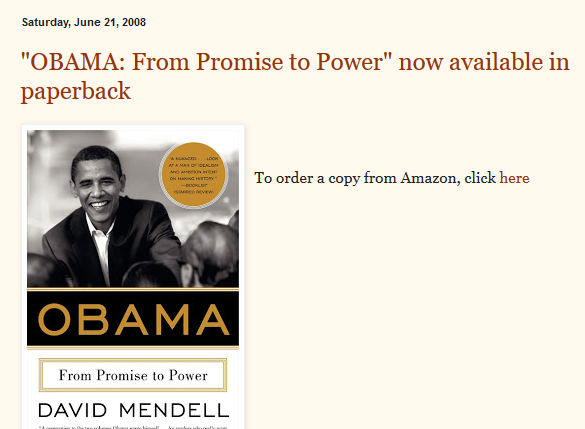 David Mendell paragraph gone from home page