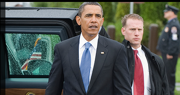 Obama and Secret Service agent