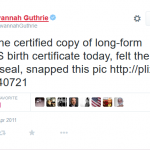 "Where Are NBC Reporter Savannah Guthrie's ""Pics"" of Obama's Long-Form Birth Certificate?"