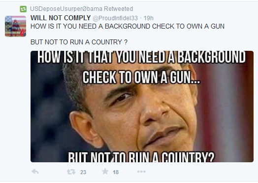 Twitterer Asks Why Obama's Background Was Not Checked
