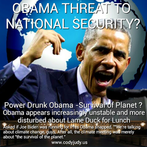 Americans Concerned as Unstable Obama Threatens U.S.A.'s National Security