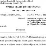 Cold Case Posse Lead Investigator Granted Additional Time to Prepare for Deposition in Arpaio Civil Contempt Case