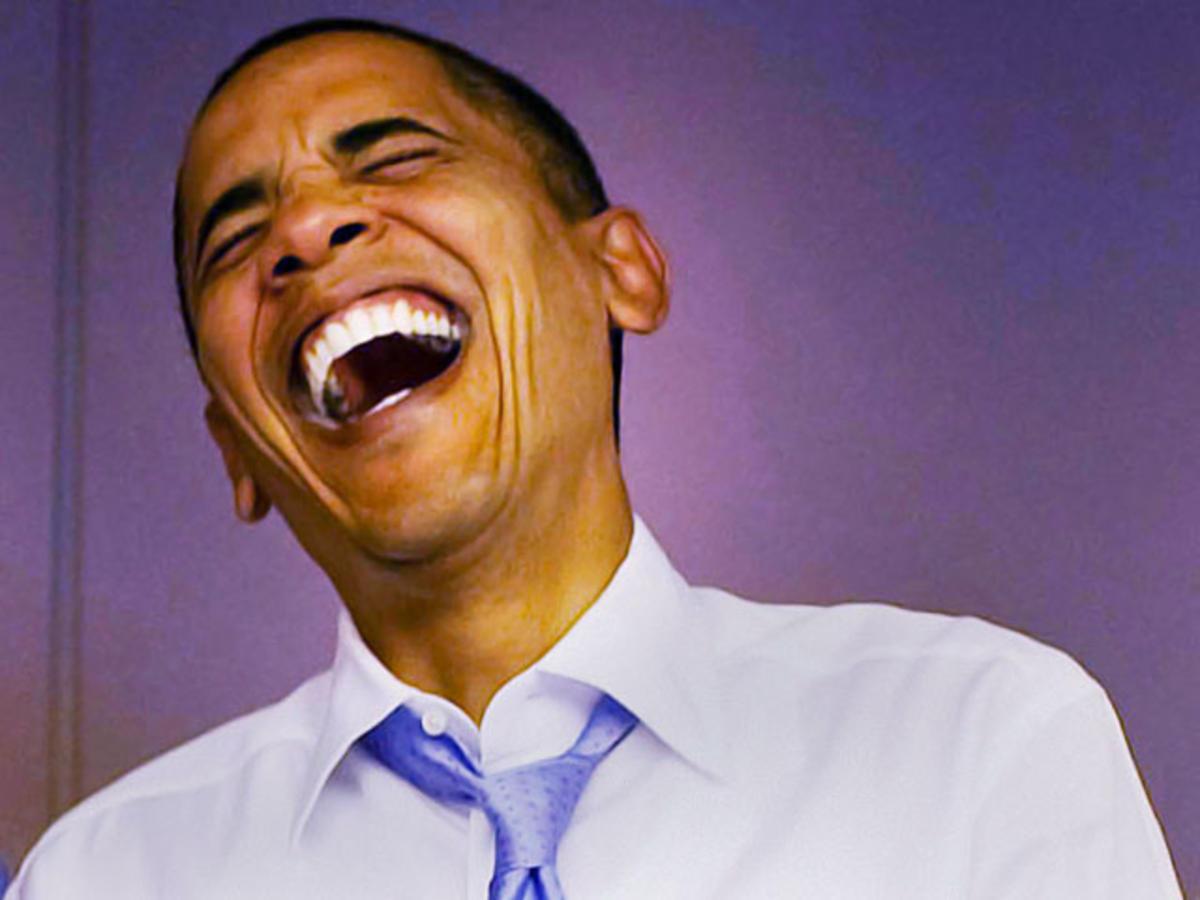 Obama laughing 2