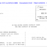 "Breaking:  Mike Zullo Files ""Notice of Appeals and Request to Stay"" Proceedings in Arpaio Case"
