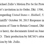 Breaking:  Plaintiffs' Attorneys File Additional Response to Zullo's Motion for Protective Order