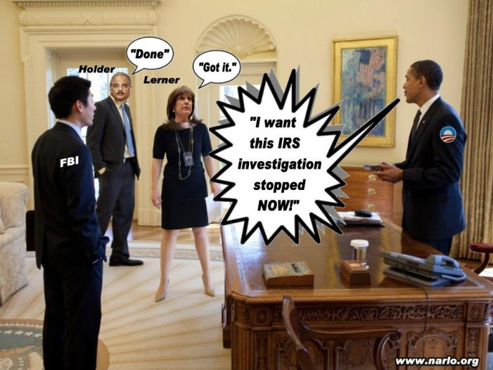 BHO + IRS + DOJ + FBI = Collusion + Corruption + Racketeering