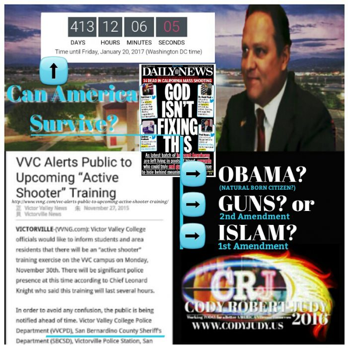 Breaking Report:  Can America Survive 413 Days – Obama, Guns or Islam?