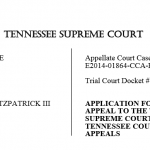 Appeal Filed in Fitzpatrick Case to Tennessee Supreme Court