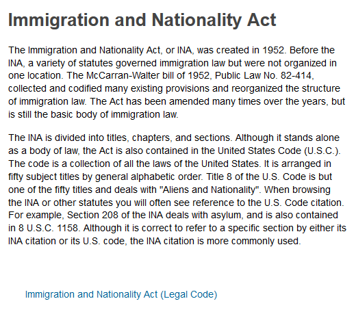 Immigration and Nationality Act 1952