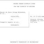 What Did Mike Zullo Say in Court on November 12?