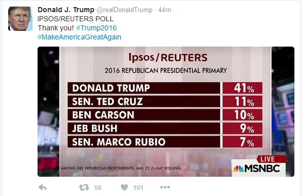 Trump tweet poll 01-25-16