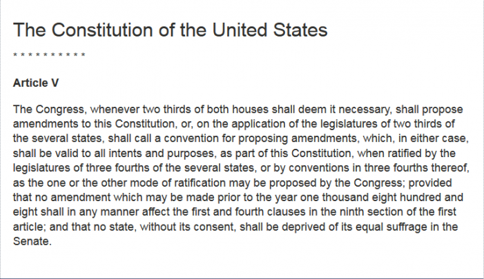 An Article V Convention of States