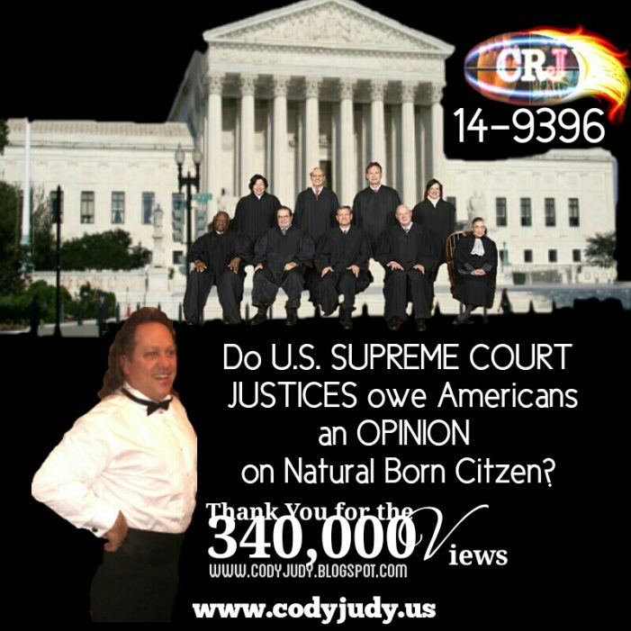 Natural Born Citizen U.S. Supreme Court Case 14-9396 Motion to Reopen and Reconsider Filed!