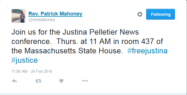 Justina Pelletier Press Conference Thursday at 11:00 a.m. EST