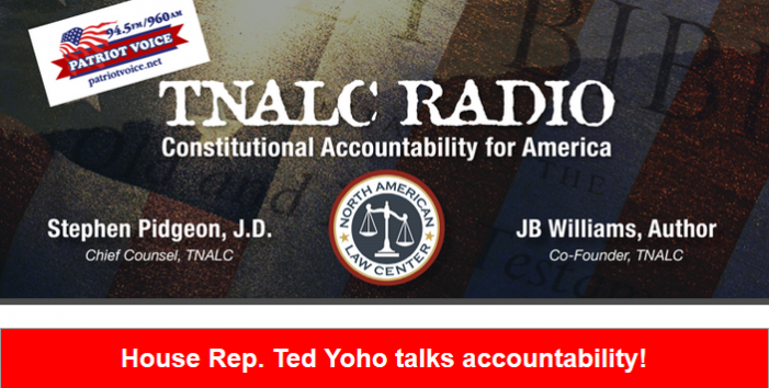 Rep. Ted Yoho and Col. Jim Harding on TNALC Radio Tonight!
