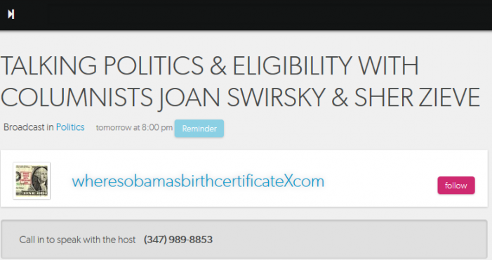 Talking Politics & Eligibility with Columnists Joan Swirsky & Sher Zieve