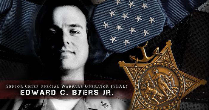 Medal of Honor Recipient, Senior Chief Special Warfare Operator Edward C. Byers Jr., USN, (SEAL), Shuns Spotlight