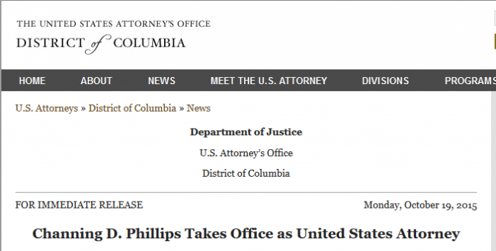 Criminal Complaint Filed with U.S. Attorney for the District of Columbia