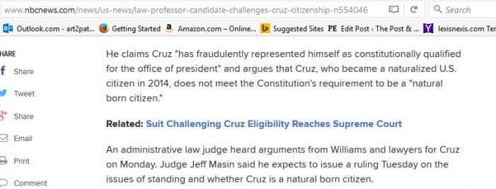 "NBC News Declares Ted Cruz ""a Naturalized Citizen"""