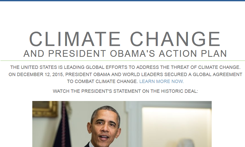 Obama climate change WH