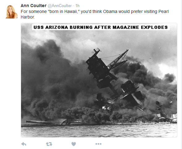 "Ann Coulter Comments on Obama's ""Born in Hawaii"" Claim"