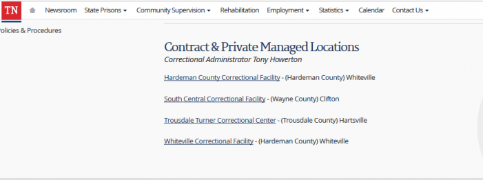 Corporate-Run Prison Limits Movement, Restroom Access, Embracing During Visitation