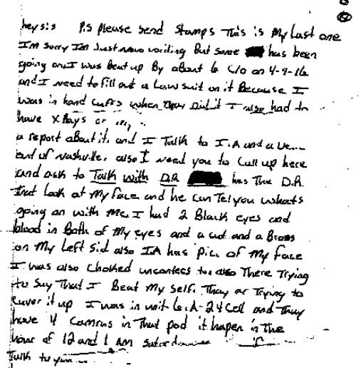 John McCloud letter part 1