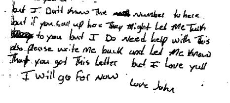 John McCloud letter part 2