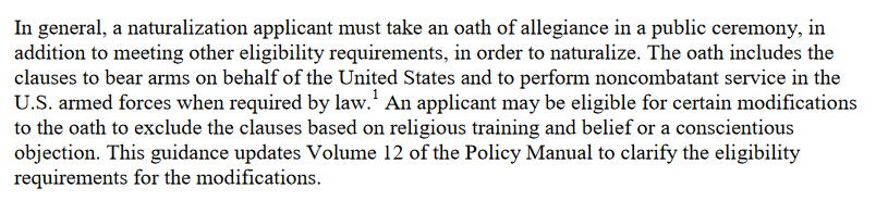 Oath of Allegiance changes July 21 2015