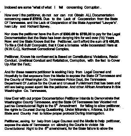 Ron Allen typed report p1 body