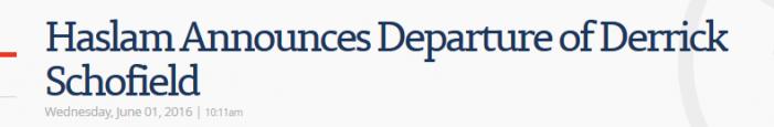 TDOC Commissioner Derrick Schofield Has Resigned