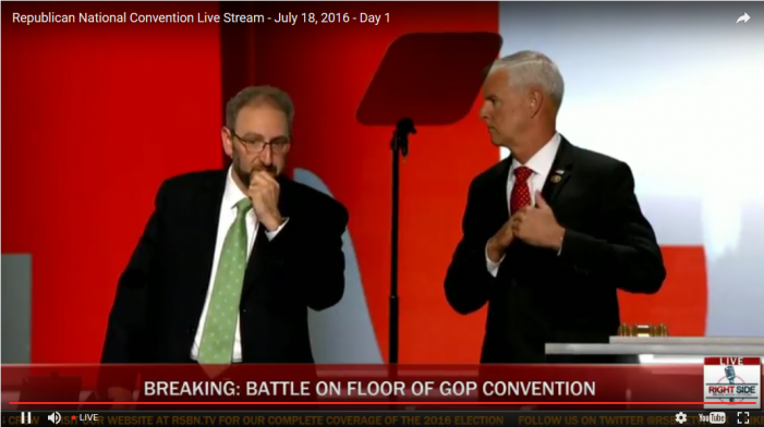 Breaking:  Chaos Breaks Out at RNC over Roll Call Vote