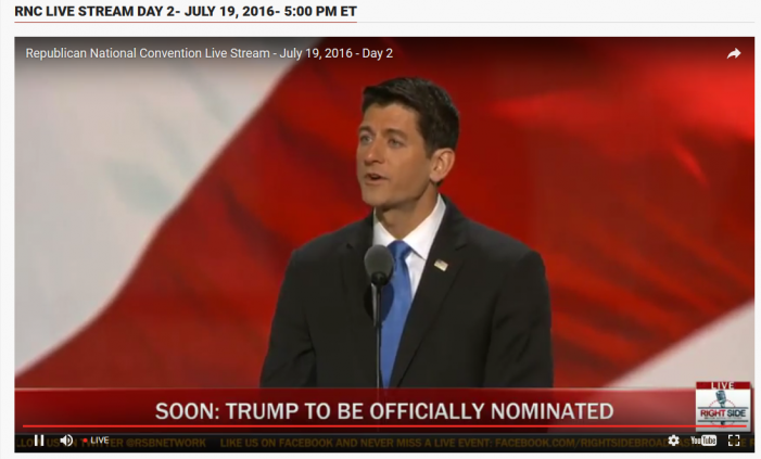 RNC, Day 2, 6:09 p.m. EDT:  Ryan Announces Roll Call Vote