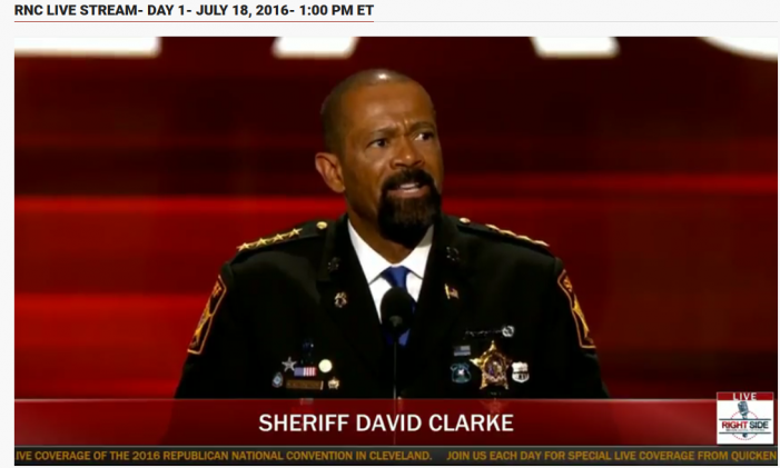 Milwaukee County Sheriff David Clarke Speaking