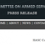 House Armed Services Committee Press Release