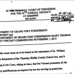 Shelby County, TN Claims it Has No Grand Jury Foreman Appointing Orders for the Past Eight Years…