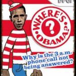 Where's Waldo?  Forget Waldo, Where Is Obama?