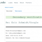 """WikiLeaks:  Google CEO Eric Schmidt Wanted to """"Do Business"""" with Clinton Campaign"""