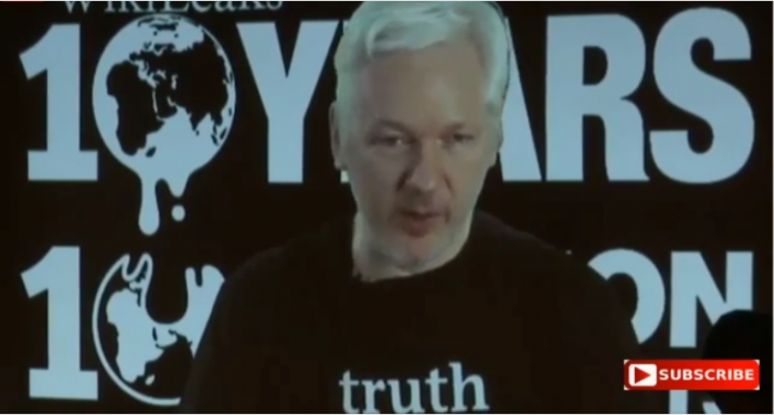 Wikileaks Two-Hour Presentation; Assange Speaks One Hour In
