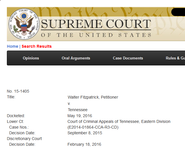 "U.S. Supreme Court Declines to Review Fitzpatrick ""Extortion"" Petition"