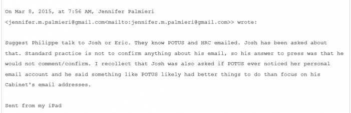 "From WikiLeaks:  ""They Know POTUS and HRC Emailed"""