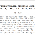 "Feature Report:  Pennsylvania ""Recount"" Not Possible"