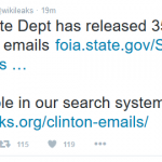 WikiLeaks Adds 357 Emails Released by State Department to its Clinton Archive