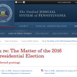 Stein Asks for Three-Day Delay in Pennsylvania Election Hearing